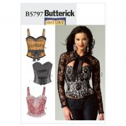Butterick Ladies Sewing Pattern 5797 Corsets, Sash & Shrug