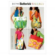 Butterick Accessories Easy Sewing Pattern 5799 Market Bags in 4 Styles