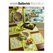 Butterick Easy Sewing Pattern 5800 Napkins, Placemats, Table Runner & Accessories