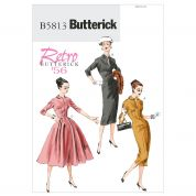 Butterick Ladies Sewing Pattern 5813 Vintage Styles Dresses & Belt