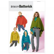 Butterick Ladies Sewing Pattern 5819 Wrap & Cape Jackets