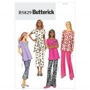 Butterick Ladies Easy Sewing Pattern 5829 Pyjamas & Slippers