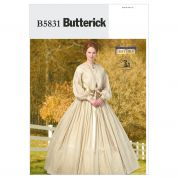 Butterick Ladies Sewing Pattern 5831 Historical Dress & Petticoat