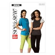 Butterick See & Sew Ladies Easy Sewing Pattern 5838 Jersey Tops