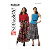Butterick See & Sew Ladies Easy Sewing Pattern 5840 Gathered Skirts