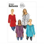 Butterick Ladies Sewing Pattern 5861 Tunic Blouse Tops
