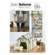 Butterick Pets Easy Sewing Pattern 5867 Toy, Organizer, House, Mat & Carry Bag