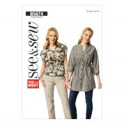 Butterick Ladies Easy Sewing Pattern 5874 Tops & Tunics