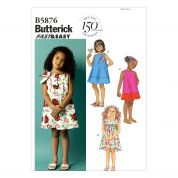 Butterick Childrens Easy Sewing Pattern 5876 Summer Dresses