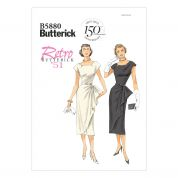 Butterick Ladies Easy Sewing Pattern 5880 Vintage Style Dress & Belt