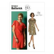 Butterick Ladies Easy Sewing Pattern 5883 Asymmetric Drape Dress