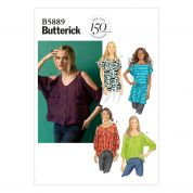 Butterick Ladies Easy Sewing Pattern 5889 Top, Tunic Dress & Belt