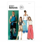 Butterick Ladies Easy Sewing Pattern 5893 Shorts & Pants