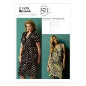 Butterick Ladies Plus Size Sewing Pattern 5898 Wrap Dresses