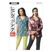 Butterick Ladies Easy Sewing Pattern 5905 Shirt Blouse Tops