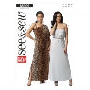 Butterick Ladies Easy Sewing Pattern 5906 Maxi Dresses