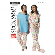 Butterick See & Sew Ladies Easy Sewing Pattern 5910 Sleepwear Pyjamas