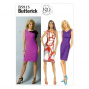 Butterick Ladies Easy Sewing Pattern 5915 Asymmetric Dresses