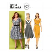 Butterick Ladies Easy Sewing Pattern 5930 Dresses with Collar