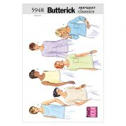 Butterick Ladies Easy Sewing Pattern 5948 Tops & T Shirts