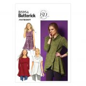 Butterick Ladies Easy Sewing Pattern 5954 Jersey Tops & Tunics
