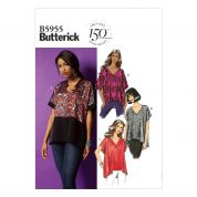 Butterick Ladies Easy Sewing Pattern 5955 Very Loose Fitting Tops