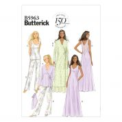Butterick Ladies Easy Sewing Pattern 5963 Dressing Gown, Pyjamas & Sleepwear