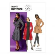 Butterick Ladies Easy Sewing Pattern 5966 Jacket, Coat & Belt