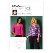 Butterick Ladies Easy Sewing Pattern 5967 Blouse Top