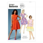 Butterick Ladies Easy Sewing Pattern 5982 Dresses & Belt with Bow