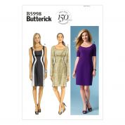 Butterick Ladies Easy Sewing Pattern 5998 Fitted Dresses