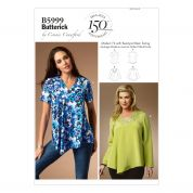Butterick Ladies Plus Size Easy Sewing Pattern 5999 Pullover Tops