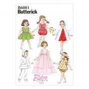 Butterick Easy Sewing Pattern 6001 Doll Clothes Retro Collection