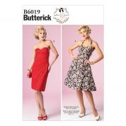 Butterick Ladies Sewing Pattern 6019 Boned Bodice Dresses