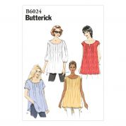 Butterick Ladies Easy Sewing Pattern 6024 Summer Blouse Tops