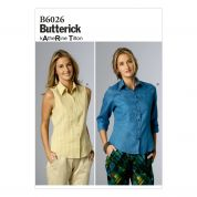 Butterick Ladies Easy Sewing Pattern 6026 Shirt & Blouse Tops