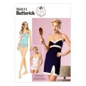 Butterick Ladies Sewing Pattern 6031 Camisole, Slip & Panties