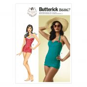 Butterick Ladies Sewing Pattern 6067 Swimsuit
