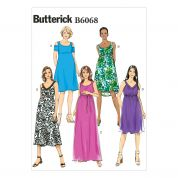 Butterick Ladies Easy Sewing Pattern 6068 Maternity Dresses & Belt