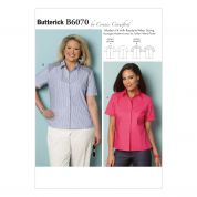 Butterick Ladies Easy Sewing Pattern 6070 Shirt Blouse Top