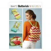 Butterick Accessories Easy Sewing Pattern 6072 Cases, Cosmetic Bag & Backpack