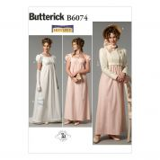 Butterick Ladies Sewing Pattern 6074 Historical Dress, Jacket, Purse & Hat Trim