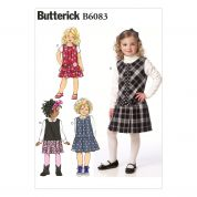 Butterick Girls Easy Sewing Pattern 6083 Pinafore Dresses