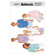 Butterick Ladies Easy Sewing Pattern 6085 Shirts & Blouses