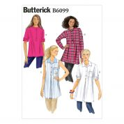 Butterick Ladies Easy Sewing Pattern 6099 Loose Fit Pullover Tunic Tops