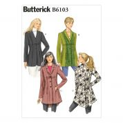 Butterick Ladies Easy Sewing Pattern 6103 Lined Fitted Jackets