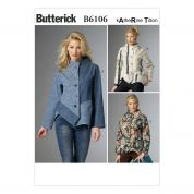 Butterick Ladies Sewing Pattern 6106 Loose Fit Panelled Jackets