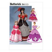 Butterick Girls Sewing Pattern 6113 Fancy Dresses Costume