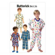 Butterick Boys Easy Sewing Pattern 6126 Pyjama Tops, Shorts & Pants