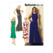 Butterick Ladies Easy Sewing Pattern 6130 Elegant Dresses & Jumpsuit